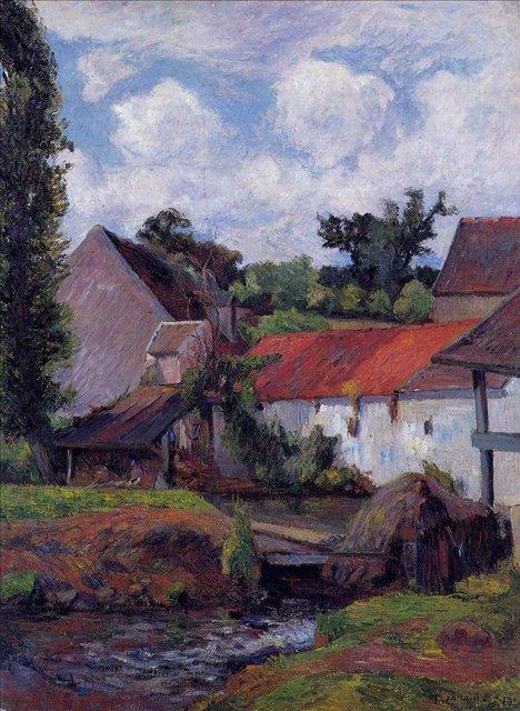 пейзаж < Ферма в Осни >  :: Поль Гоген [ живопись постимпрессионизм ] - Paul Gauguin фото