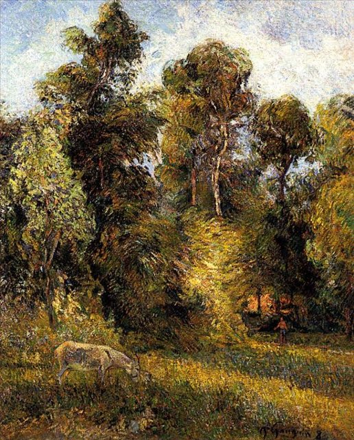 пейзаж < Опушка леса >  :: Поль Гоген [ живопись постимпрессионизм ] - Гоген Поль ( Paul Gauguin ) фото