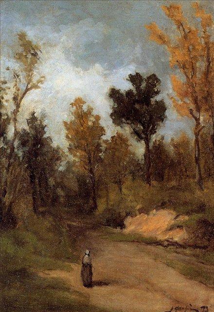 пейзаж Лесная тропа :: Поль Гоген - Paul Gauguin фото