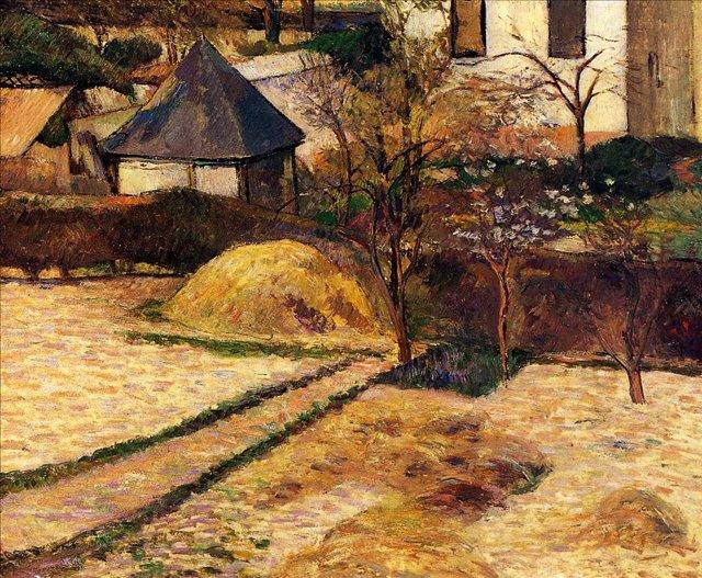 пейзаж < Сад >  :: Поль Гоген [ живопись постимпрессионизм ] - Paul Gauguin фото