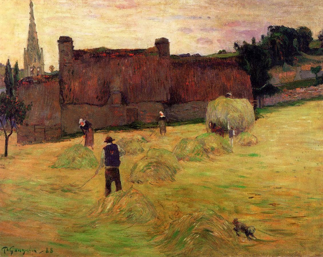 пейзаж < Сенокос >  :: Поль Гоген [ живопись постимпрессионизм ] - Гоген Поль ( Paul Gauguin ) фото