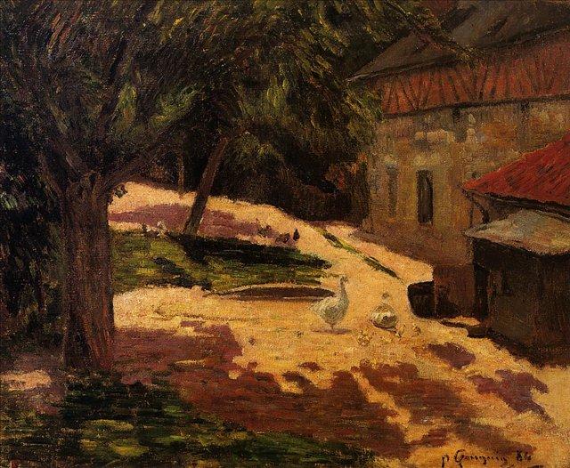пейзаж < Курятник >  :: Поль Гоген [ живопись постимпрессионизм ] - Paul Gauguin фото