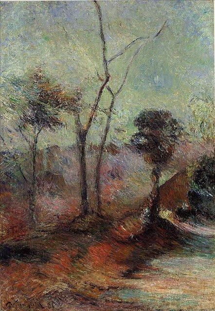 пейзаж < Пейзаж >  :: Поль Гоген [ живопись постимпрессионизм ] - Paul Gauguin фото