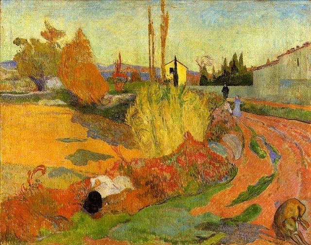 пейзаж < Пейзаж, ферма в Арле >  :: Поль Гоген [ живопись постимпрессионизм ] - Paul Gauguin фото