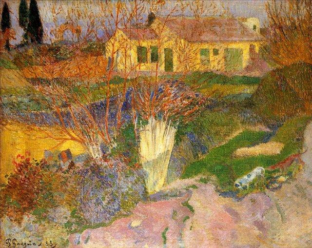 пейзаж < Хутор рядом с Арле >  :: Поль Гоген [ живопись постимпрессионизм ] - Гоген Поль ( Paul Gauguin ) фото
