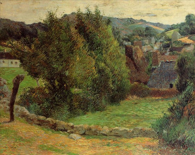пейзаж < Гора Сан-Маргарит, недалеко от Пресвитерия >  :: Поль Гоген [ живопись постимпрессионизм ] - Paul Gauguin фото