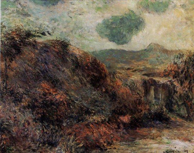 пейзаж < Горный пейзаж >  :: Поль Гоген [ живопись постимпрессионизм ] - Гоген Поль ( Paul Gauguin ) фото
