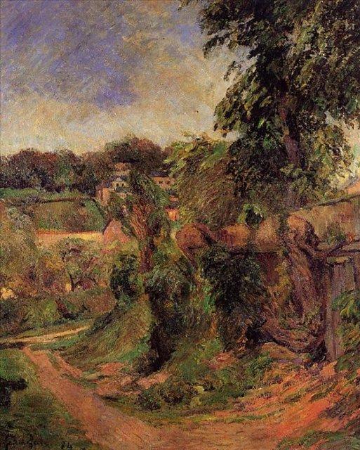 пейзаж < Окрестности Руана >  :: Поль Гоген [ живопись постимпрессионизм ] - Paul Gauguin фото