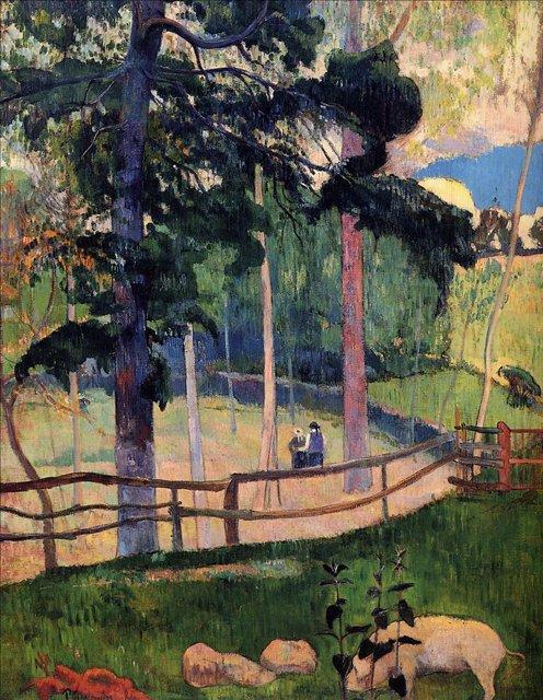пейзаж Ностальгическая прогулка :: Поль Гоген - Paul Gauguin фото