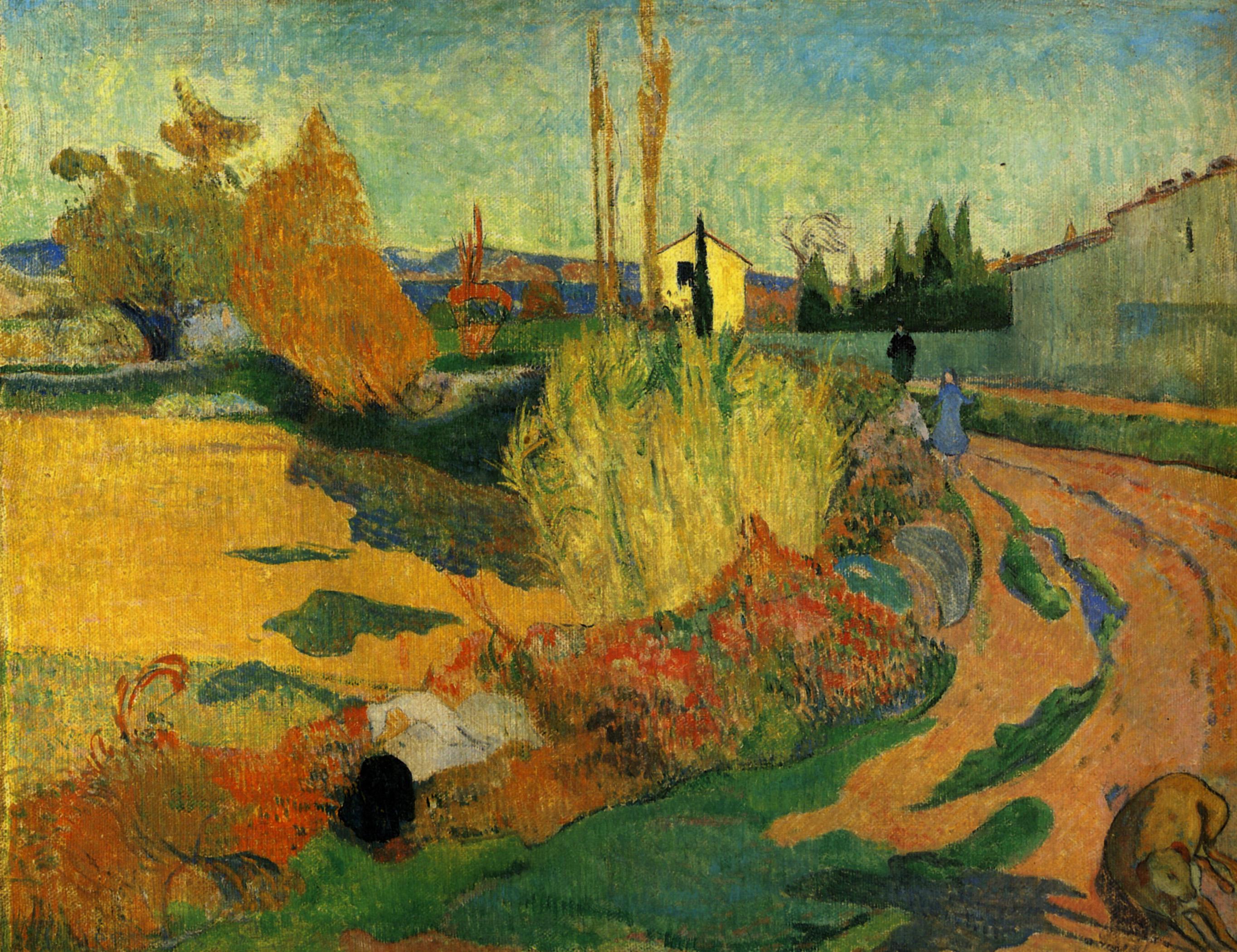 пейзаж < Вид Арля  >  :: Поль Гоген [ живопись постимпрессионизм ] - Paul Gauguin фото