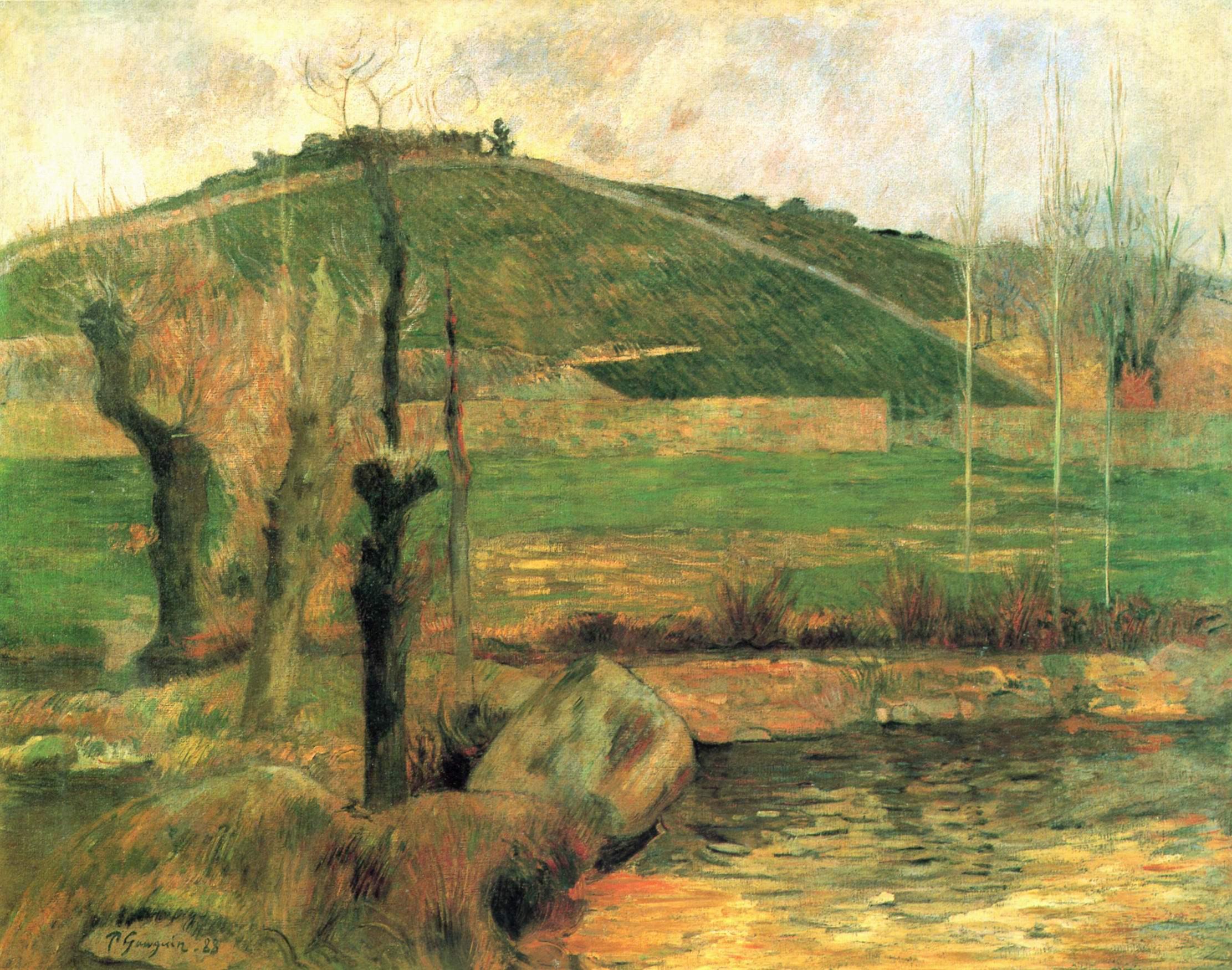 пейзаж < Вид на Сан-Маргарит в окрестностях Понт-Эвена  >  :: Поль Гоген [ живопись постимпрессионизм ] - Гоген Поль ( Paul Gauguin ) фото