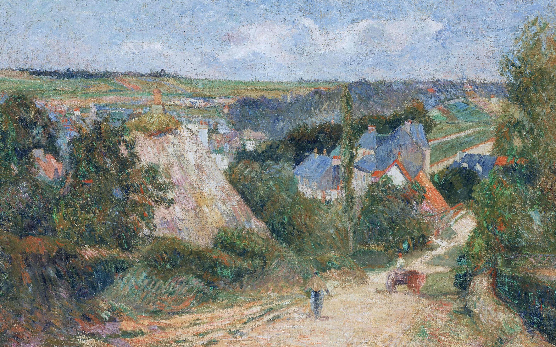 пейзаж < Въезд в деревню  >  :: Поль Гоген [ живопись постимпрессионизм ] - Гоген Поль ( Paul Gauguin ) фото