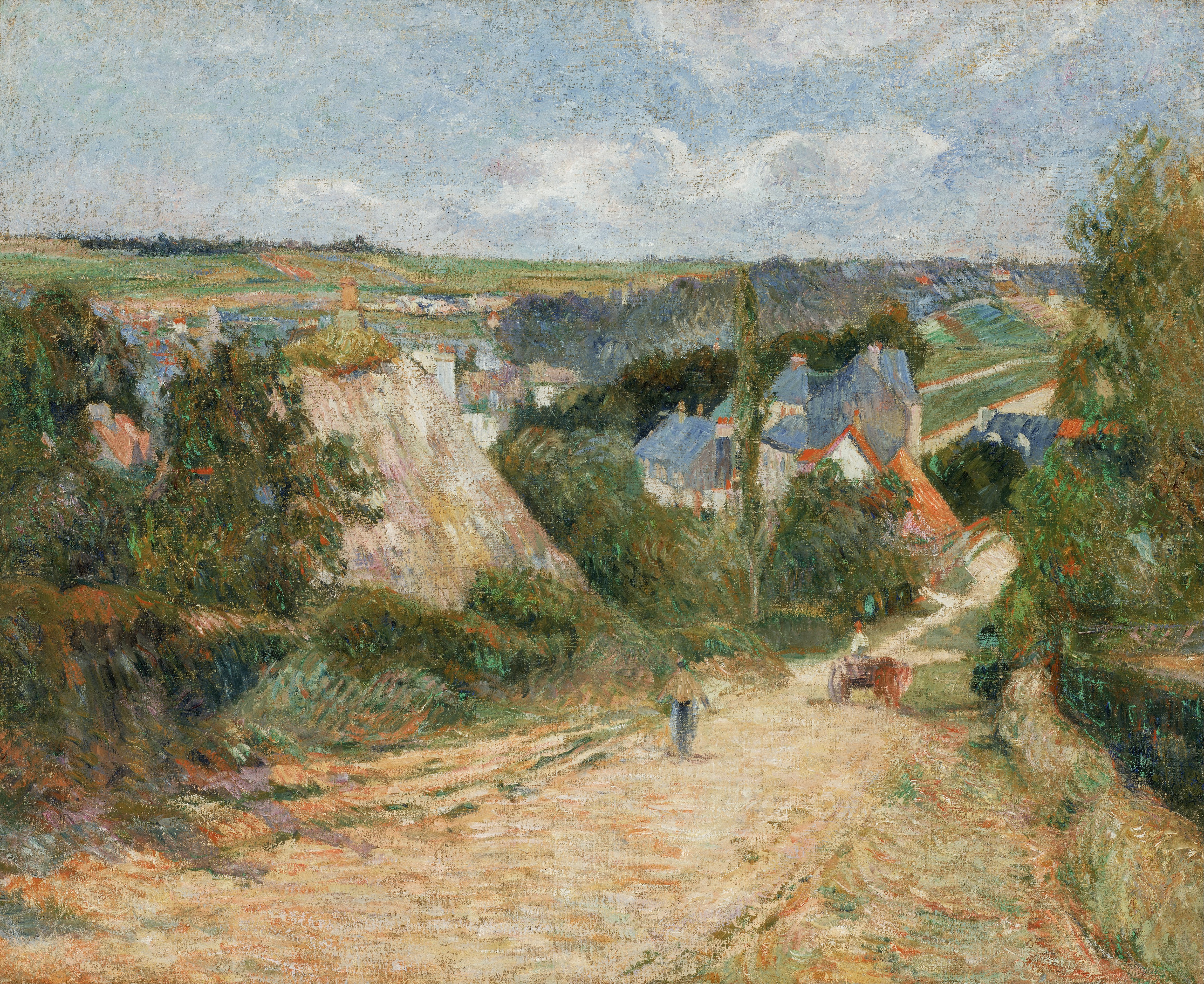 пейзаж < Въезд в деревню >  :: Поль Гоген [ живопись постимпрессионизм ] - Paul Gauguin фото