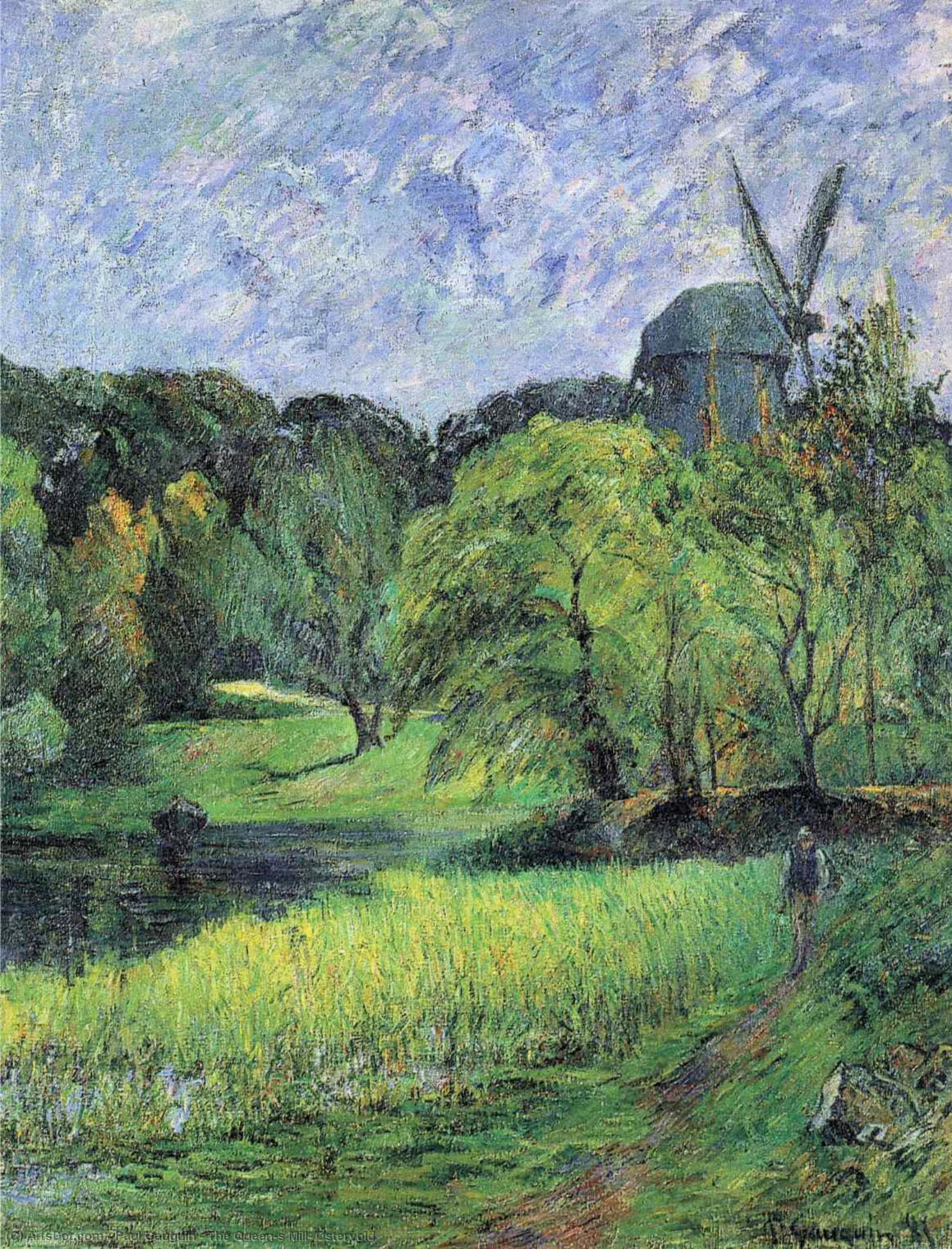 пейзаж < Мельница. Парк Остерволд >  :: Поль Гоген [ живопись постимпрессионизм ] - Гоген Поль ( Paul Gauguin ) фото