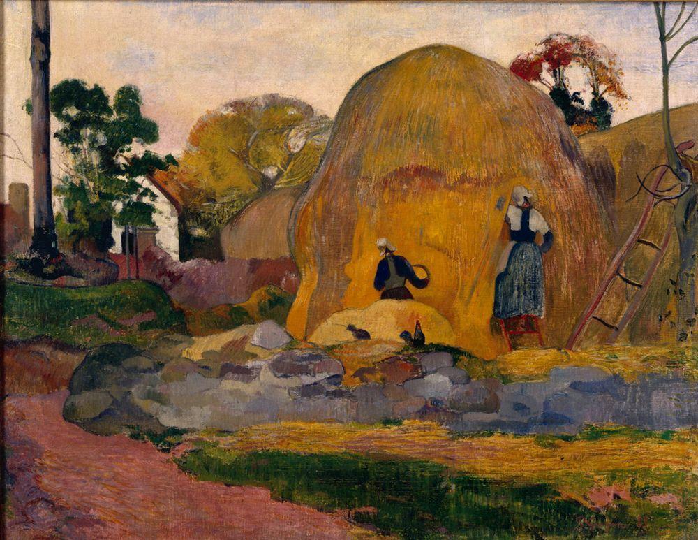пейзаж < Жёлтые стога (Золотая жатва) >  :: Поль Гоген [ живопись постимпрессионизм ] - Paul Gauguin фото