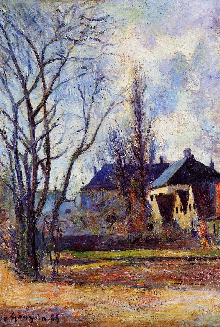 пейзаж < Конец зимы >  :: Поль Гоген [ живопись постимпрессионизм ] - Гоген Поль ( Paul Gauguin ) фото