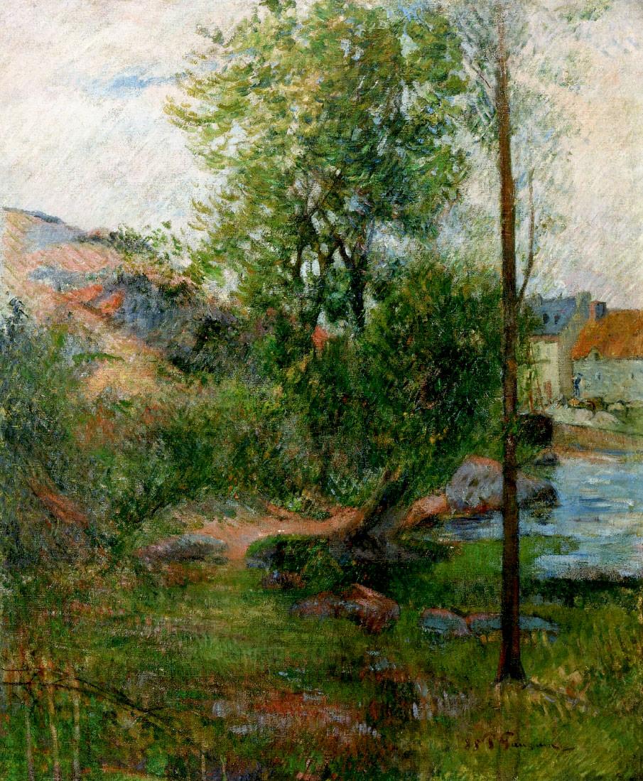 пейзаж < Ива на Эвене >  :: Поль Гоген [ живопись постимпрессионизм ] - Гоген Поль ( Paul Gauguin ) фото