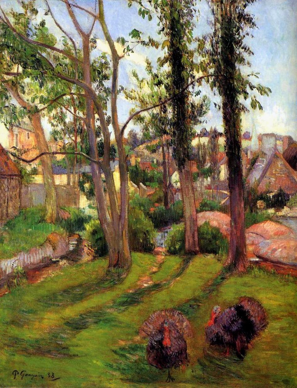 пейзаж Индюки (Пейзаж Порт-Эвен) :: Поль Гоген - Paul Gauguin фото