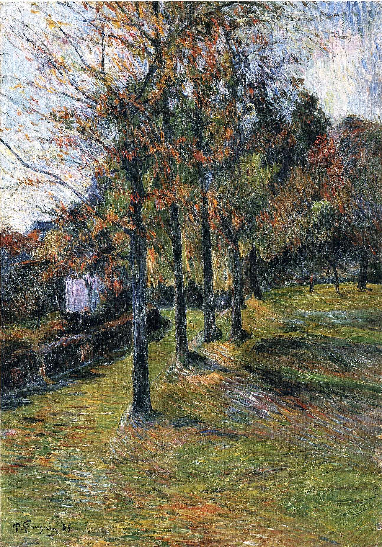 пейзаж < Деревья и дорога >  :: Поль Гоген [ живопись постимпрессионизм ] - Paul Gauguin фото
