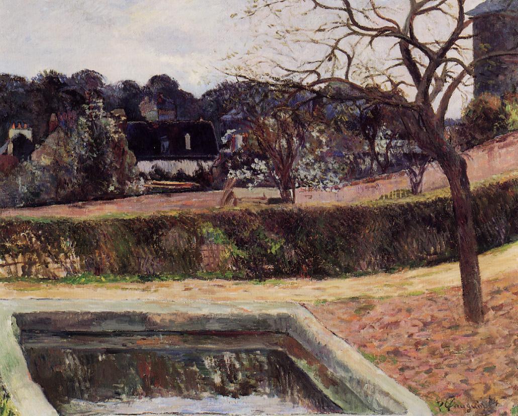 пейзаж < Квадратный бассейн (Пруд) >  :: Поль Гоген [ живопись постимпрессионизм ] - Paul Gauguin фото