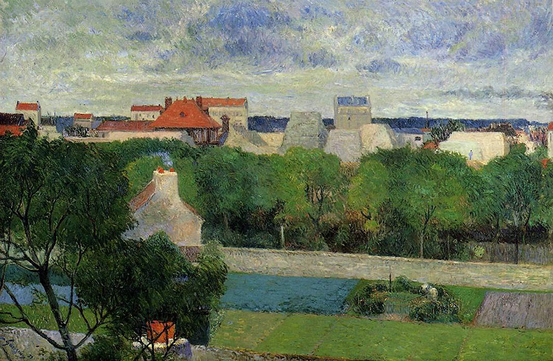 пейзаж < Торговые сады Вогирарда >  :: Поль Гоген [ живопись постимпрессионизм ] - Paul Gauguin фото