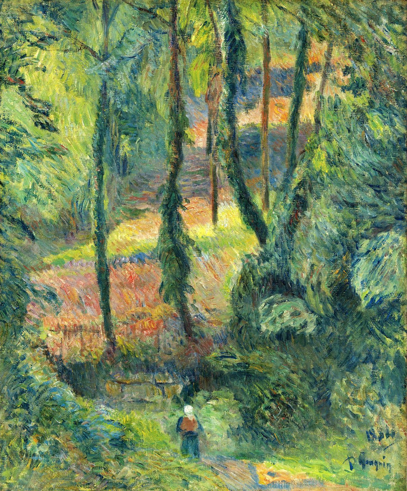 пейзаж < Затопленная тропа >  :: Поль Гоген [ живопись постимпрессионизм ] - Paul Gauguin фото