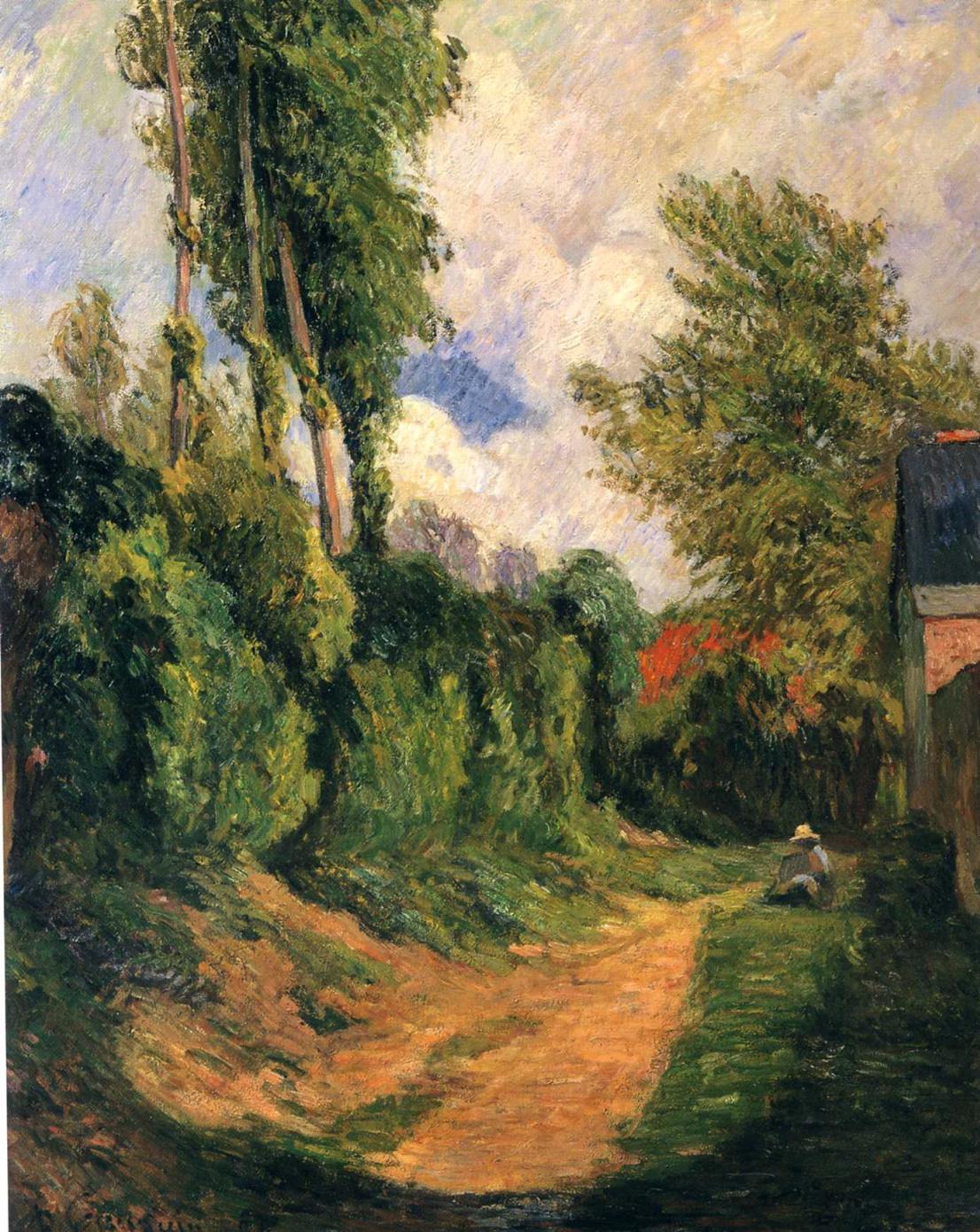 пейзаж < Затопленная тропинка >  :: Поль Гоген [ живопись постимпрессионизм ] - Гоген Поль ( Paul Gauguin ) фото