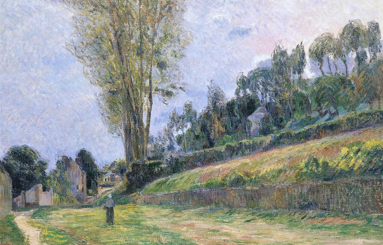 пейзаж < Улица, Рyен >  :: Поль Гоген [ живопись постимпрессионизм ] - Гоген Поль ( Paul Gauguin ) фото