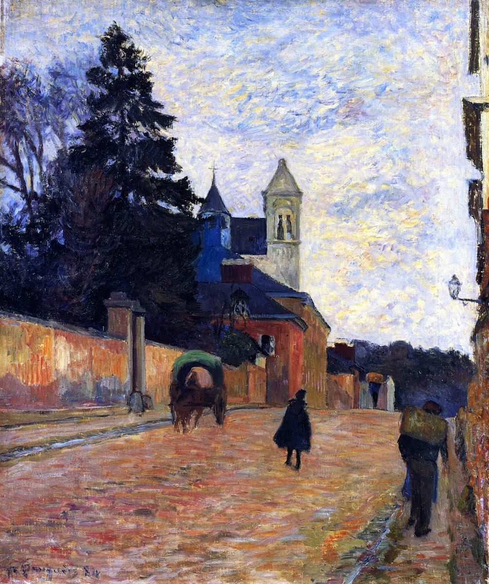 пейзаж < Улица в Руене >  :: Поль Гоген [ живопись постимпрессионизм ] - Гоген Поль ( Paul Gauguin ) фото