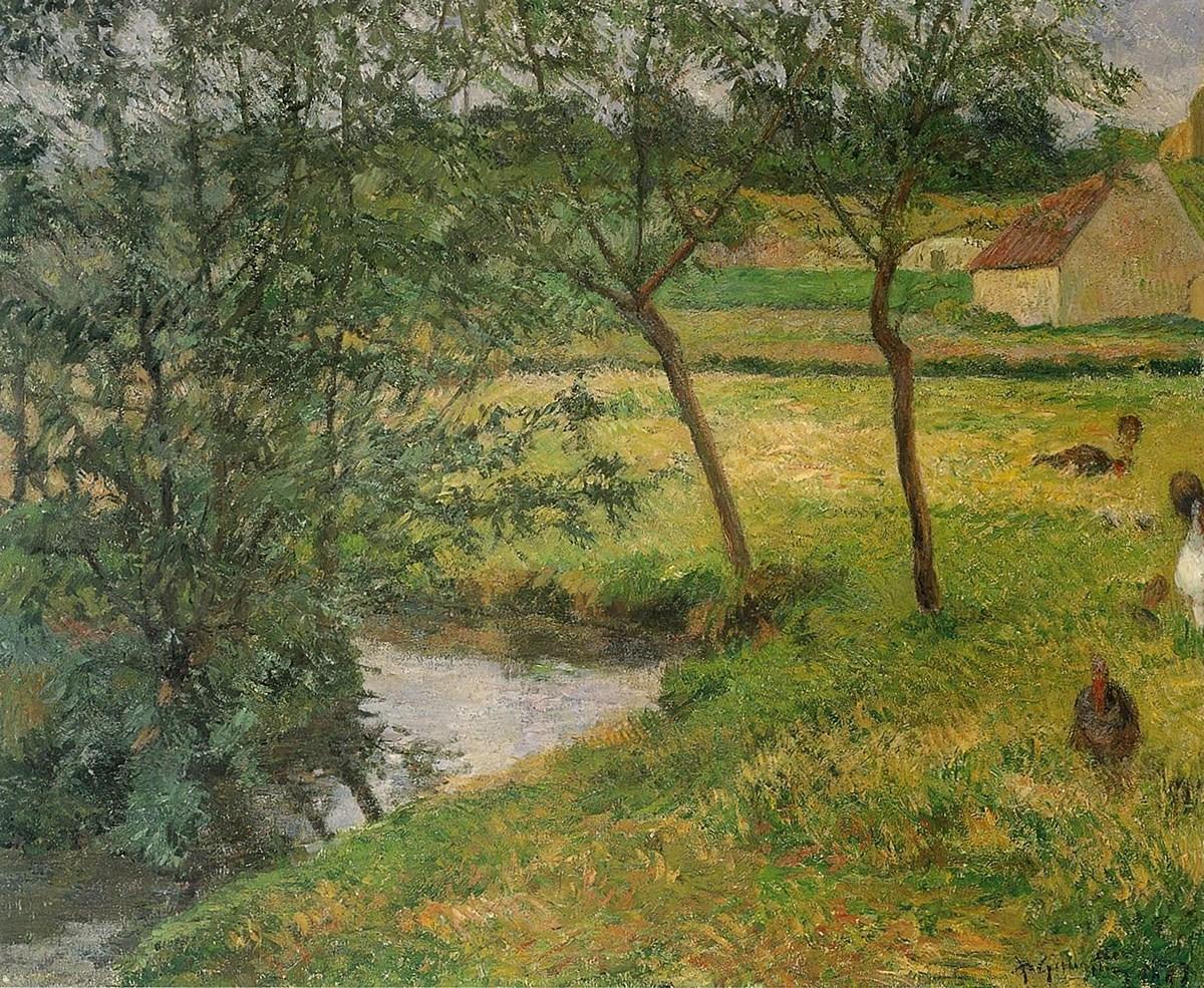 пейзаж < Ручей >  :: Поль Гоген [ живопись постимпрессионизм ] - Гоген Поль ( Paul Gauguin ) фото