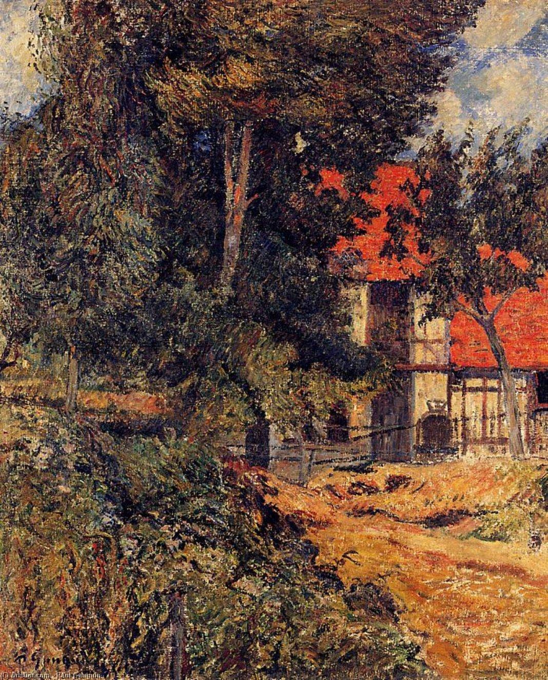 пейзаж < Конюшня недалеко от Диппе >  :: Поль Гоген [ живопись постимпрессионизм ] - Гоген Поль ( Paul Gauguin ) фото
