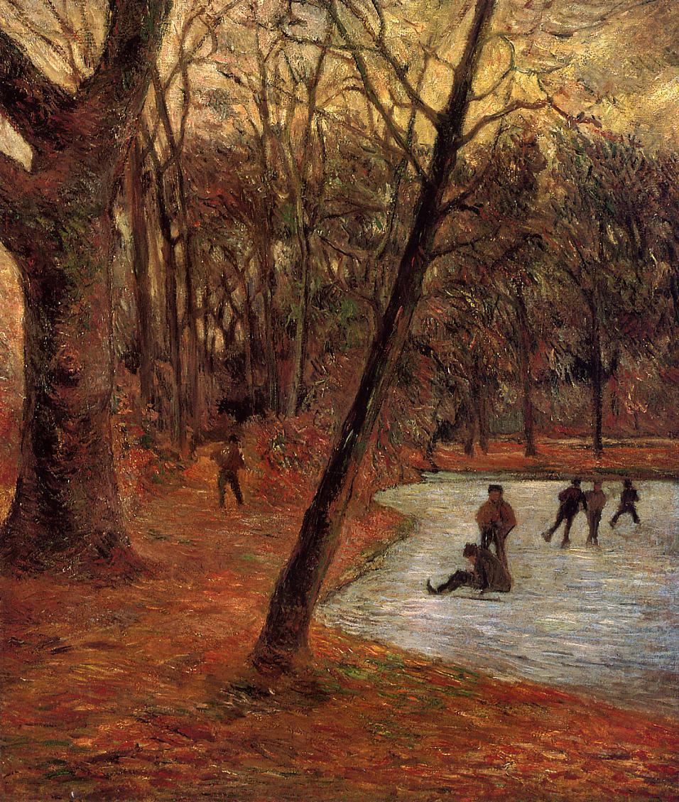 пейзаж Конькобежцы в Фредериксберге :: Поль Гоген - Paul Gauguin фото