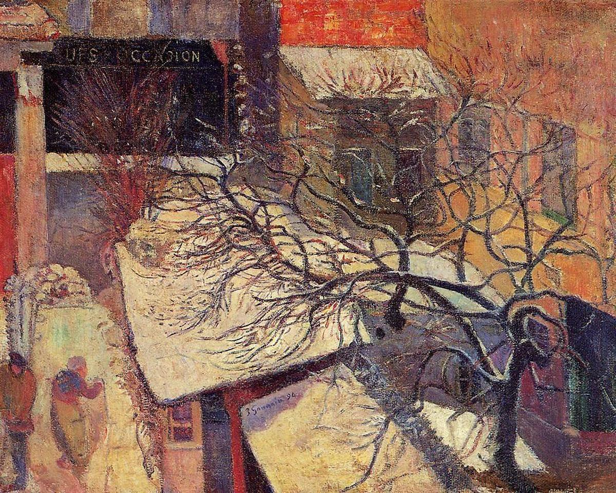 пейзаж < Париж в снегу >  :: Поль Гоген [ живопись постимпрессионизм ] - Гоген Поль ( Paul Gauguin ) фото