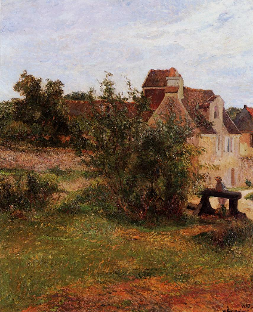 пейзаж < Осни, ворота >  :: Поль Гоген [ живопись постимпрессионизм ] - Гоген Поль ( Paul Gauguin ) фото