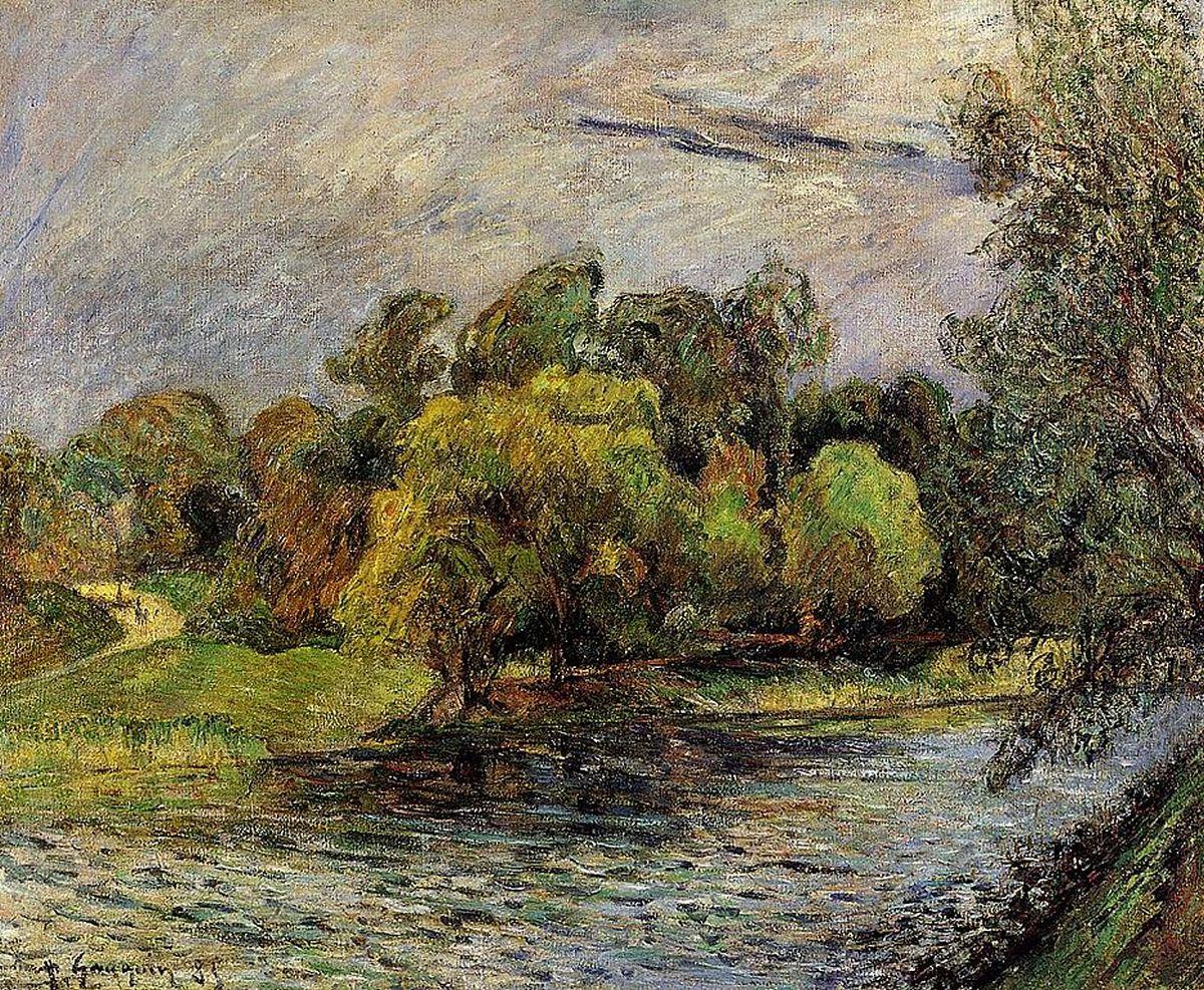 пейзаж < Парк Остерволд, Копенгаген >  :: Поль Гоген [ живопись постимпрессионизм ] - Paul Gauguin фото