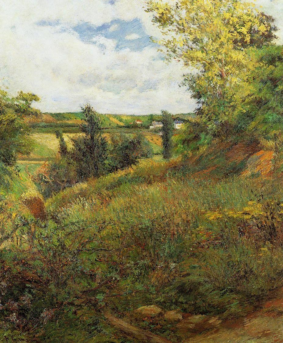 пейзаж < Пейзаж с петухами >  :: Поль Гоген [ живопись постимпрессионизм ] - Гоген Поль ( Paul Gauguin ) фото