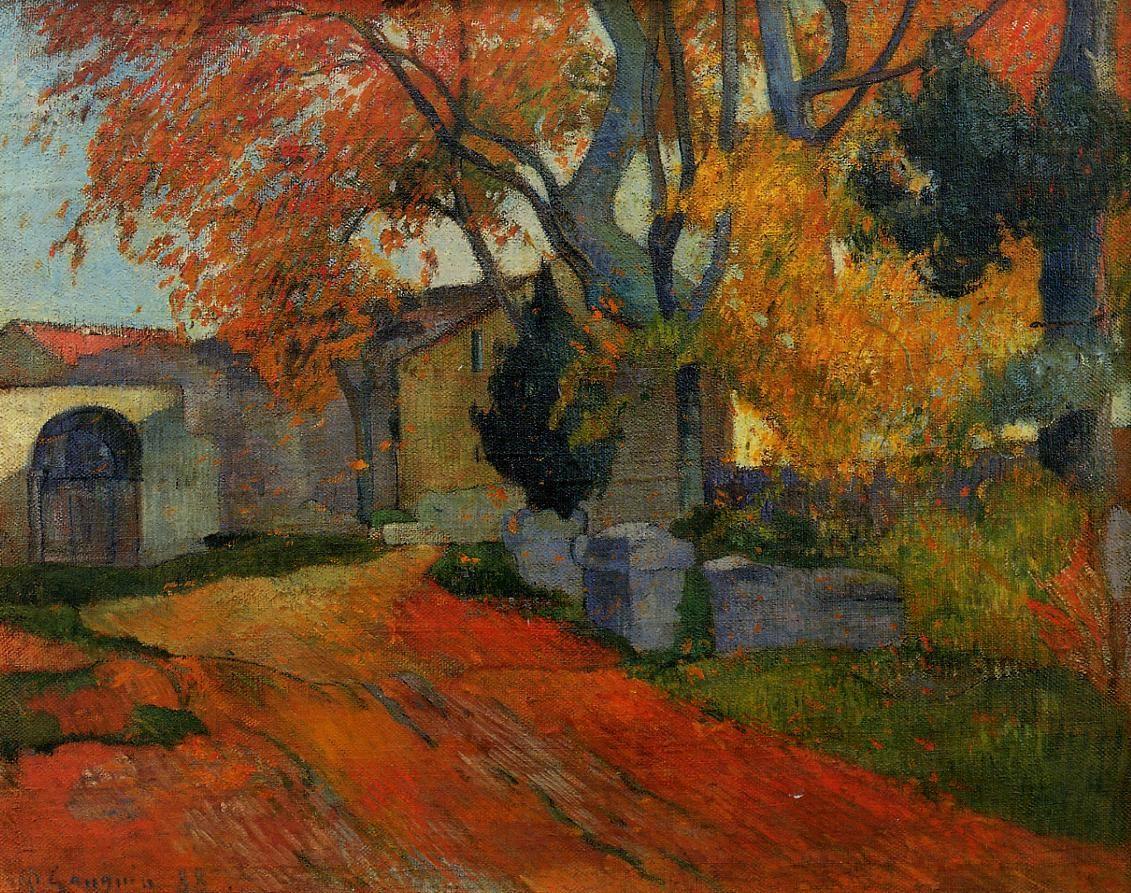 пейзаж Дорога, Арли  :: Поль Гоген [ живопись постимпрессионизм ] - Paul Gauguin фото