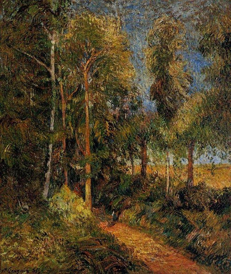 пейзаж < Дорога >  :: Поль Гоген [ живопись постимпрессионизм ] - Paul Gauguin фото