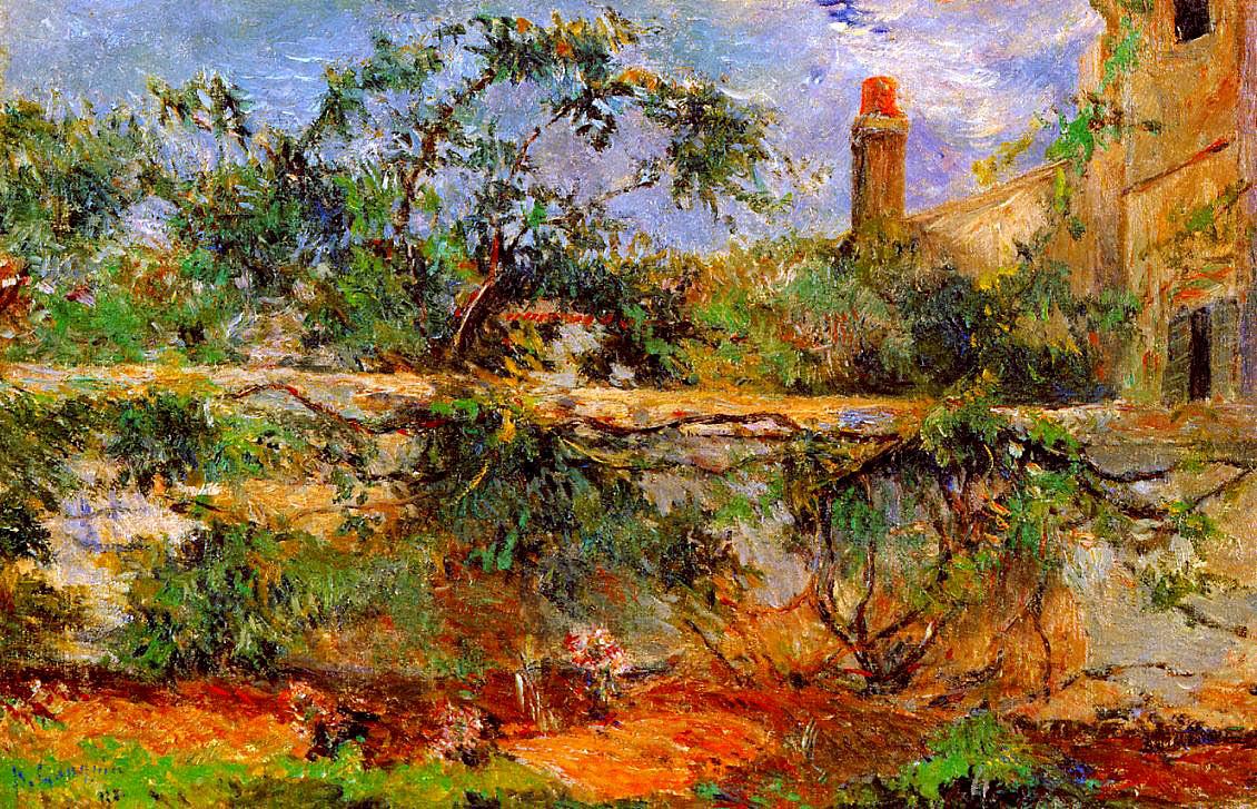 пейзаж < Стена >  :: Поль Гоген [ живопись постимпрессионизм ] - Paul Gauguin фото