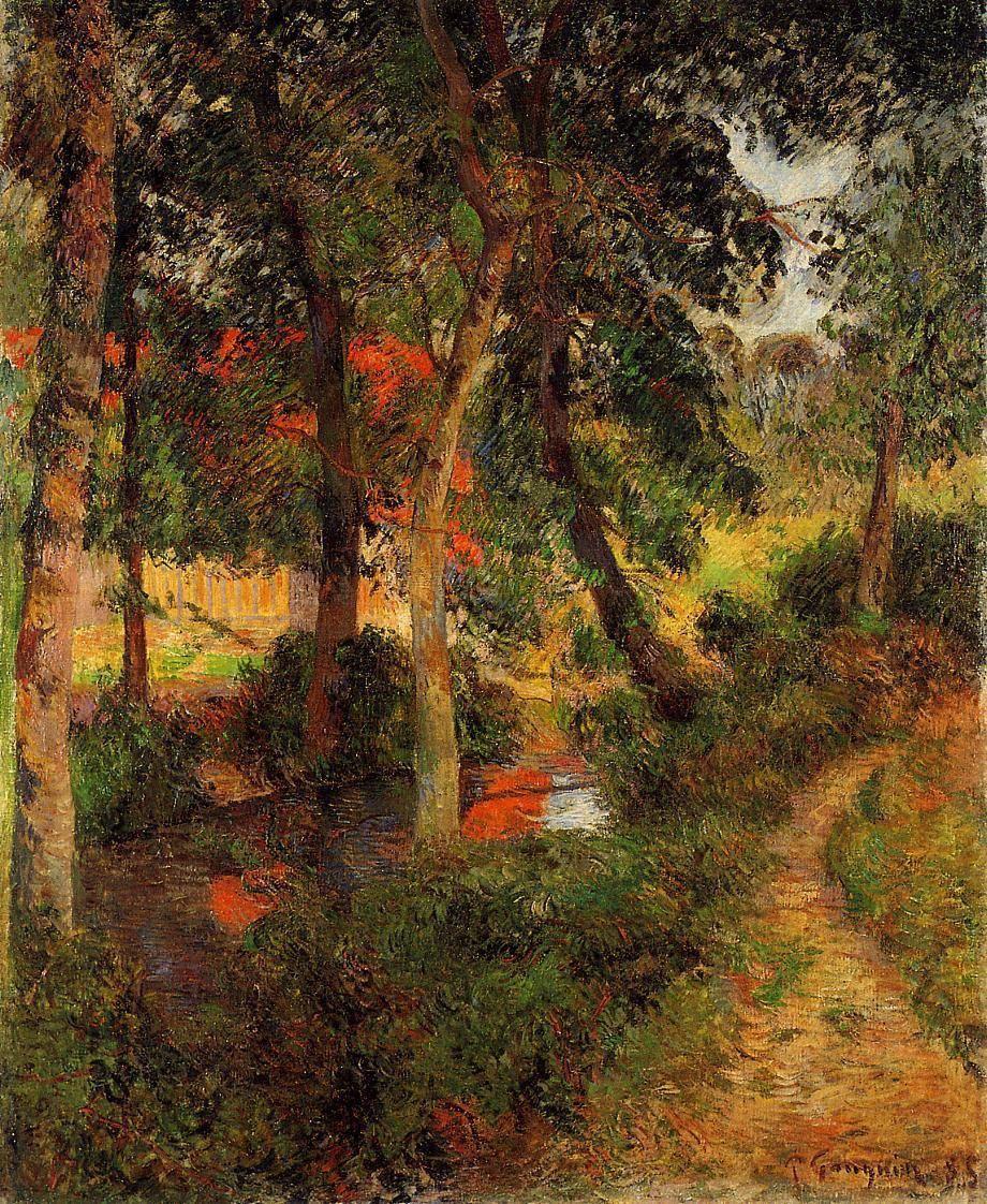 пейзаж < Тропа Жана Пере >  :: Поль Гоген [ живопись постимпрессионизм ] - Paul Gauguin фото