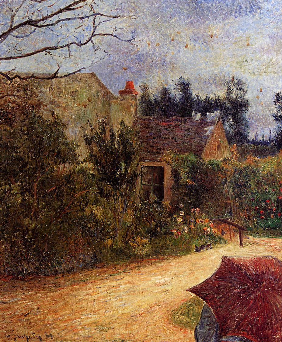 пейзаж < Сад Писарро >  :: Поль Гоген [ живопись постимпрессионизм ] - Paul Gauguin фото