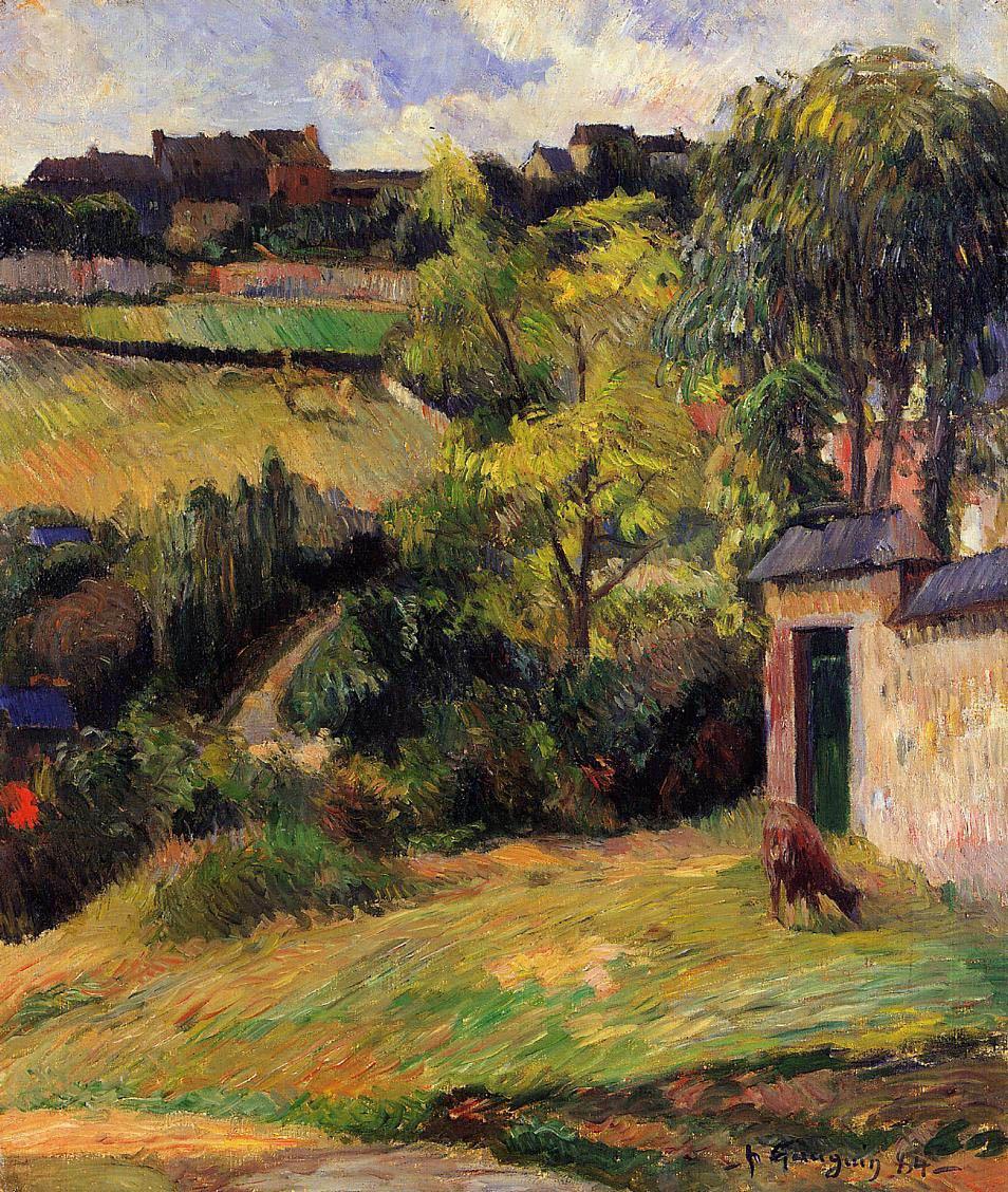 пейзаж < Окраина Руана >  :: Поль Гоген [ живопись постимпрессионизм ] - Гоген Поль ( Paul Gauguin ) фото