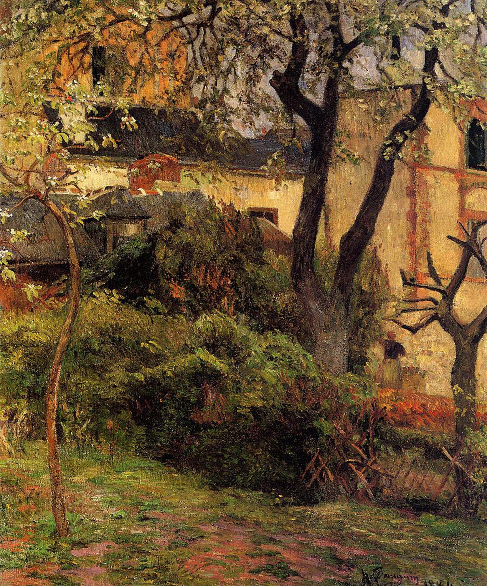 пейзаж < Весна, Руан >  :: Поль Гоген [ живопись постимпрессионизм ] - Paul Gauguin фото