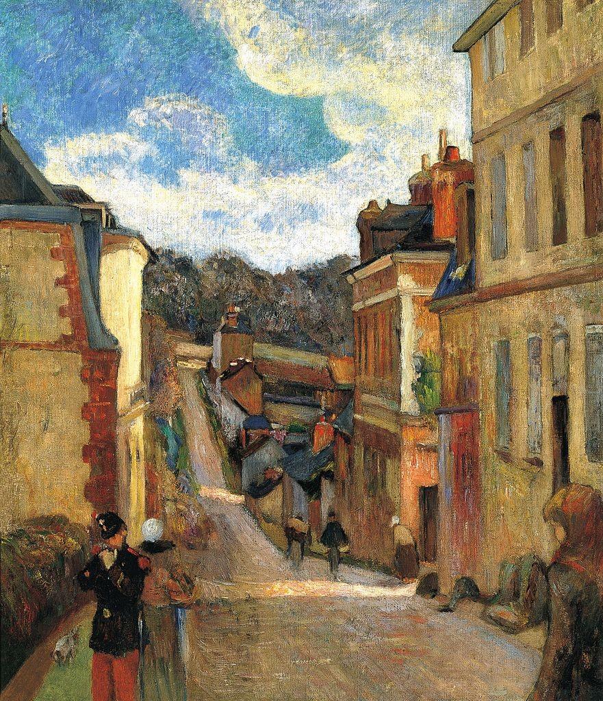 пейзаж < Улица Жувене >  :: Поль Гоген [ живопись постимпрессионизм ] - Гоген Поль ( Paul Gauguin ) фото