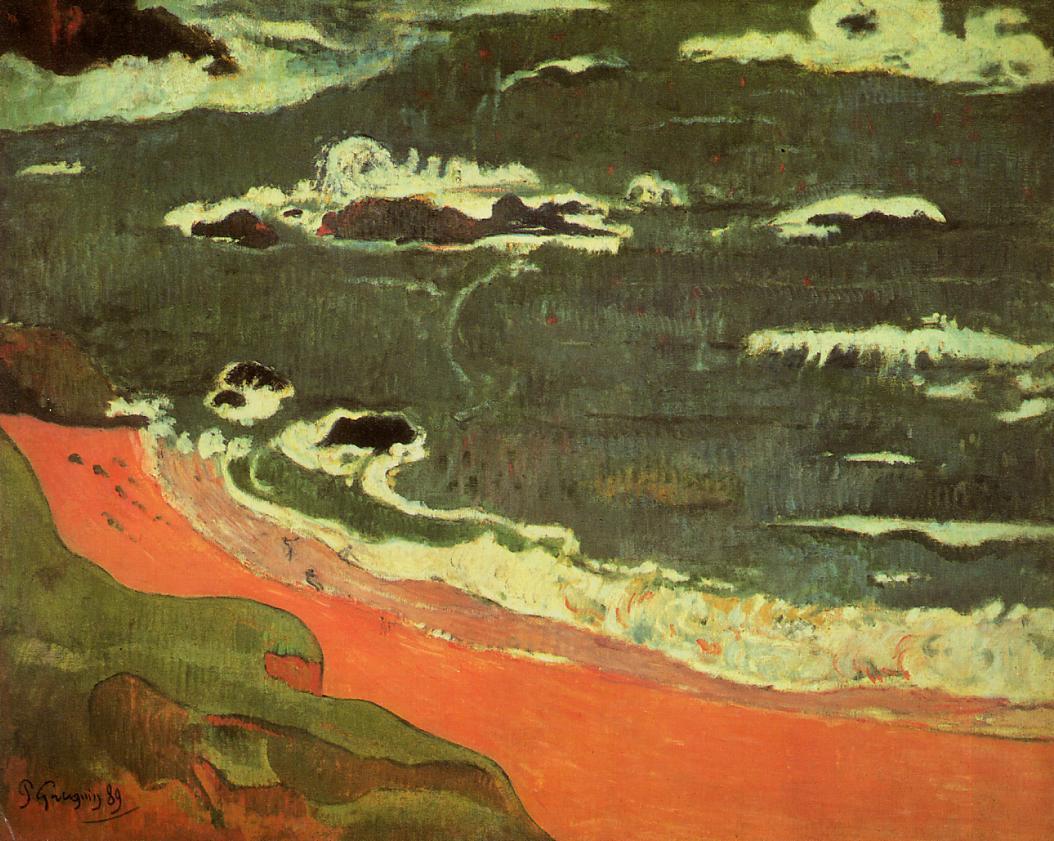 Морской пейзаж Пляж в Лё Пондю :: Поль Гоген - Paul Gauguin фото