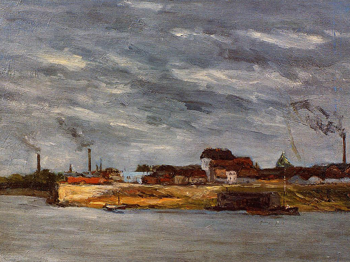 Морской пейзаж Порт де Жавель :: Поль Гоген [ живопись постимпрессионизм ] - Paul Gauguin фото