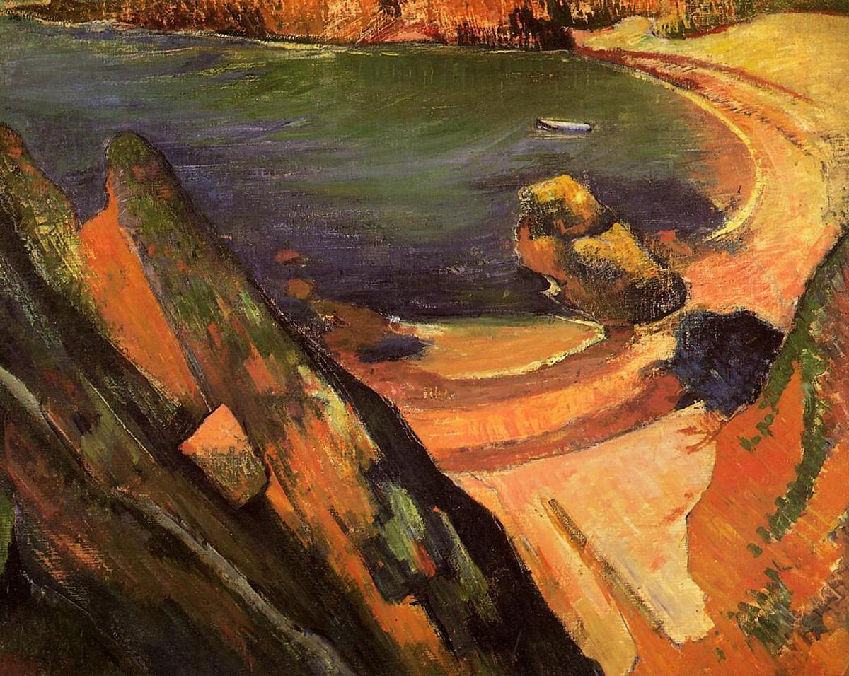Морской пейзаж < Бухта, Лё Пулдю >  :: Поль Гоген [ живопись постимпрессионизм ] - Гоген Поль ( Paul Gauguin ) фото