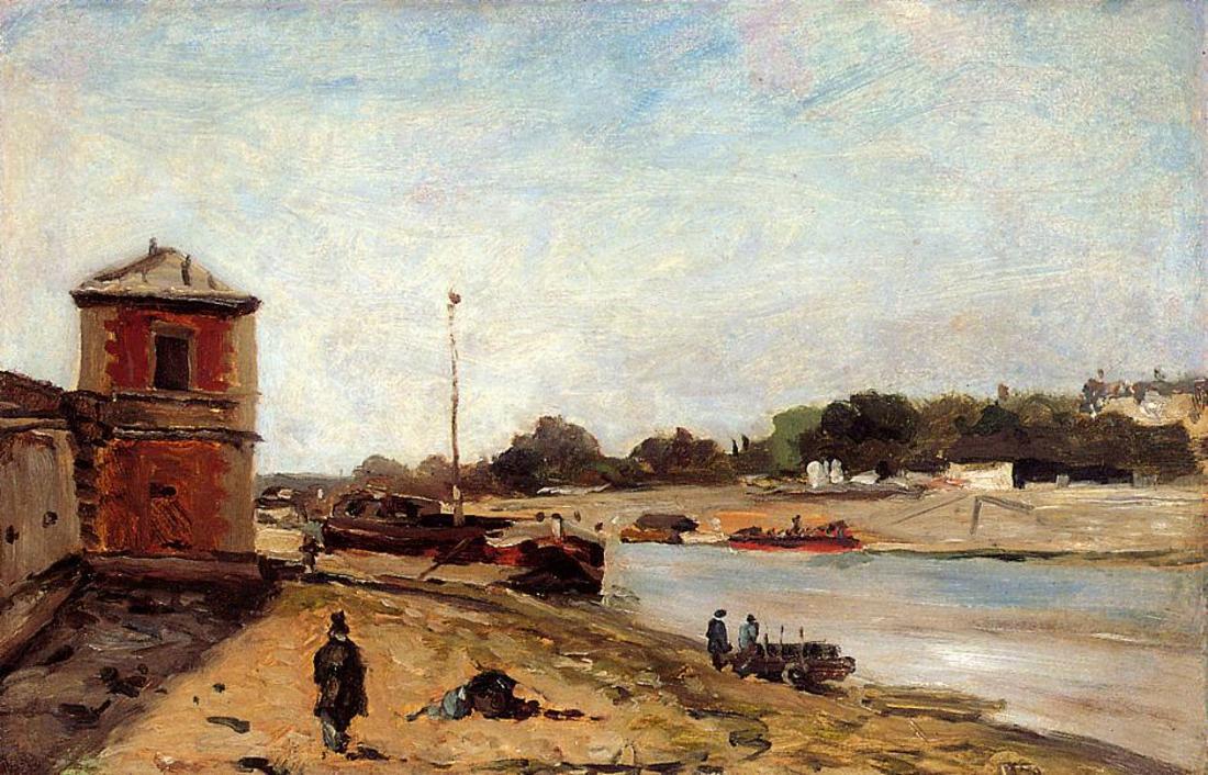 Речной пейзаж Сена :: Поль Гоген - Paul Gauguin фото