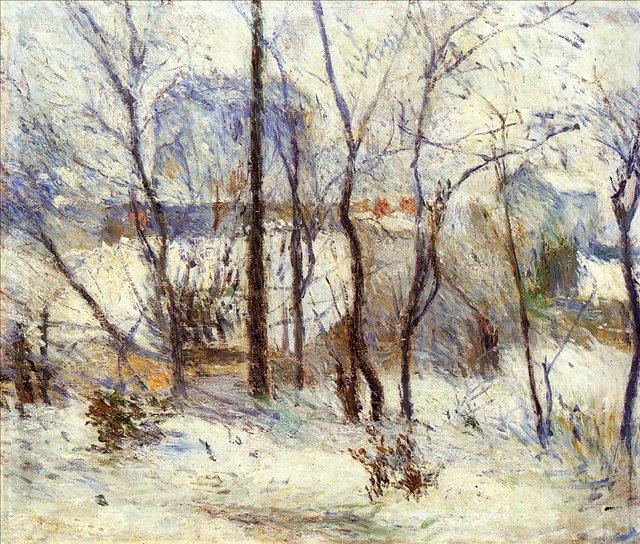 Зимний пейзаж < Снег в Вогирарде >  :: Поль Гоген [ живопись постимпрессионизм ] - Paul Gauguin фото