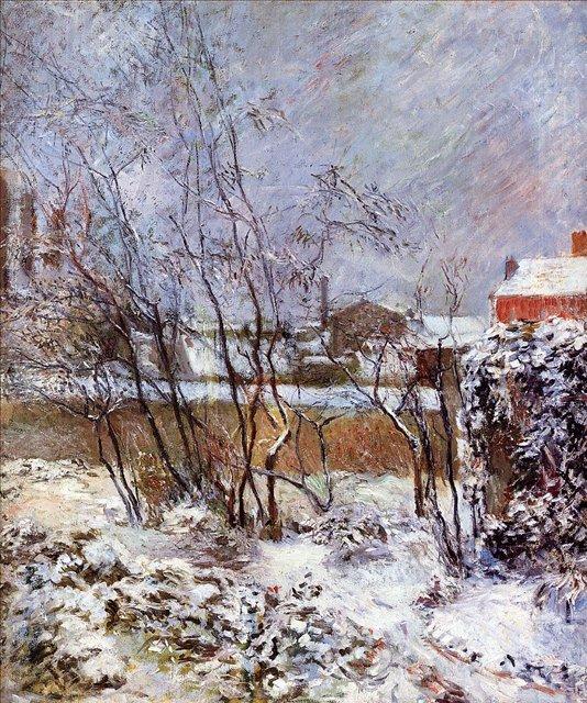Зимний пейзаж < Снег, улица Карсель >  :: Поль Гоген [ живопись постимпрессионизм ] - Гоген Поль ( Paul Gauguin ) фото